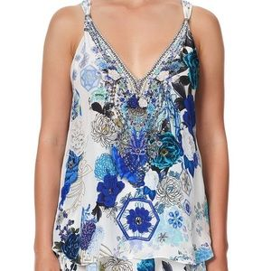 Camilla White side of the Moon tank XS NWT